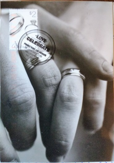 married rings postcard